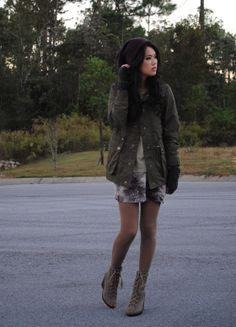 Such a cool winter outfit.