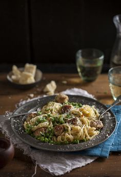 #RECIPE - sausage and pea carbonara | MBSIB:  The Man With The Golden Tongs | Scoop.it