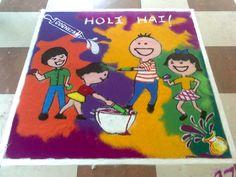 Indian Traditional Colorful Rangoli for Holi Festival..
