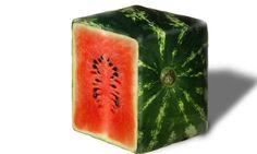 Japanese cubic watermelon
