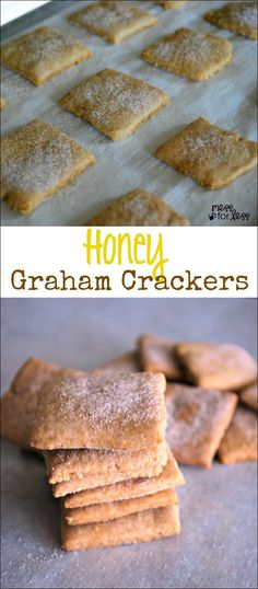 Honey Graham Cracker Recipe - these are simple to make and will become a snack time favorite at your house!
