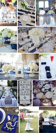 weselne dekoracje - motyw marynistyczny