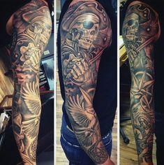Pirate Tattoos Designs For Men 50 pirate tattoos for men - arrr ships ...