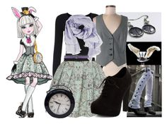 """""""Ever After High: Bunny Blanc"""" by hallaveryh ❤ liked on Polyvore featuring The Limited, Dorothy Perkins, New Look, Fendi and Armani Jeans"""