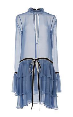 Georgian Ruffle Dress by WES GORDON for Preorder on Moda Operandi