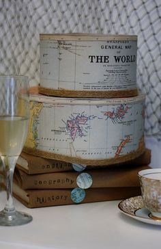 The World Map Paper Cake by ThePaperSuite on Etsy, $125.00 @Toni Hadad