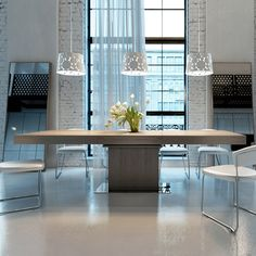 The extendable Astor Dining Table is the perfect solution for your spatial problems and caters to all dining needs in the home. http://www.yliving.com/modloft-astor-dining-table.html