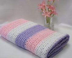 Crocheted Doll Blanket American Girl Lap Blanket by DollPatchworks