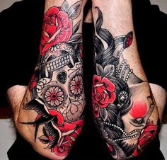 Sleeve Tattoo Design for Men Mexican