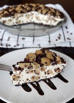 Chocolate Chip Cookie Dough Ice Cream Pie - Life Love and Sugar