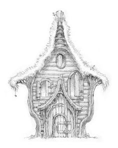 Old Tree House Drawing Treehouse Pinned By Modlar