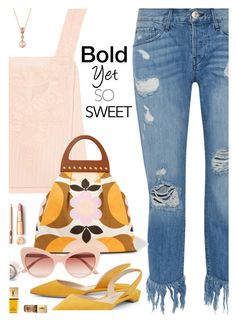 """Bold Yet So Sweet"" by juliehooper ❤ liked on Polyvore featuring 3x1, LoveShackFancy, Miu Miu, Paul Andrew, Dolce&Gabbana, Yves Saint Laurent, LE VIAN, distresseddenim and polyvoreeditorial"