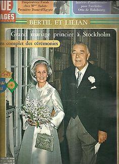 Point de vue N°1482 Bertil et Lilian Grand mariage Princier a stockholm in Livres, BD, revues | eBay