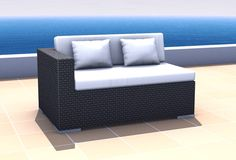 400 Aurora Sofa links inkl. Kissen