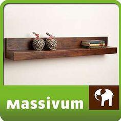 Bild: Wandregal 110cm Palisander Wandboard Regal massiv Holz Möbel Neu Monrovia