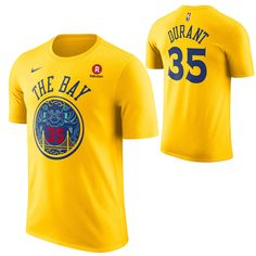 Golden State Warriors Nike Dri-FIT Men s City Edition Kevin Durant  35  Chinese Heritage Game Time Name   Number Tee - Gold d973439eb
