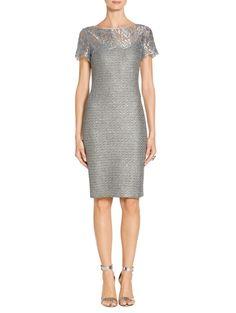 Metallic Sequin Knit Dress