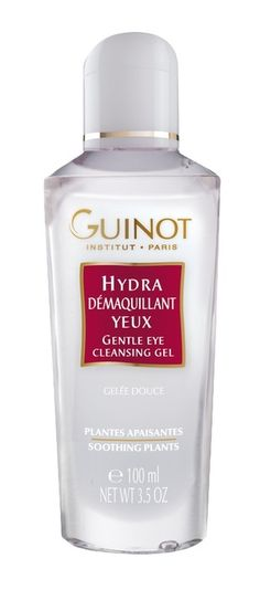 Guinot Eye Makeup Remover, This gentle eye-cleansing gel removes all traces of eye makeup, while moisturizing the eye contour area. Skin Type: All Skin Types Treatment Type: Use Daily: Morning and/or Night Key Ingredients Soothing Plants: Chamomile Water, Rose Extract and Cornflower