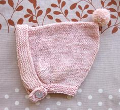 PIXIE BONNET (Free pattern in sizes 0-12 and 12-24 months)