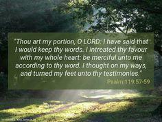Psalm 119:57-59 (KJV)