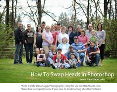Learn how to Swap Heads in Photoshop by @Dana Suggs iheartfaces.com