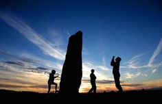 Local legend claims that Long Meg was a witch who with her daughters, was turned to stone for profaning the Sabbath, as they danced wildly o...