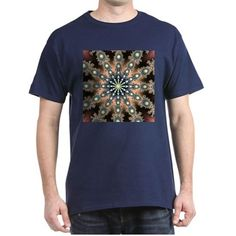 Symmetric Fractal Dark T-Shirt
