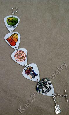 The Beatles Album LP Cover Art Guitar Pick by KatsPickJewelry, $30.00