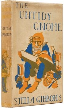 """Vintage/Antique Gnome Book Cover """"The Untidy Gnome"""" by Stella Gibbons."""