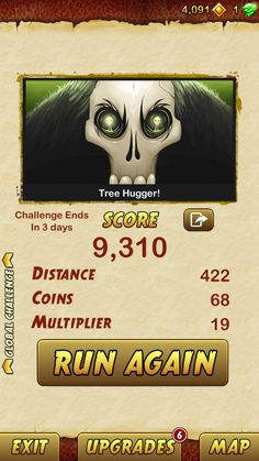I got 9310 points while escaping from a Giant Demon Monkey. Beat that! http://bitly.com/TempleRun2iOS