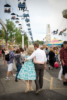 More cute carnival engagement photos
