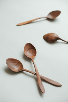 Wide spoon for eating Wooden eating spoon Rustic by belayahvoya