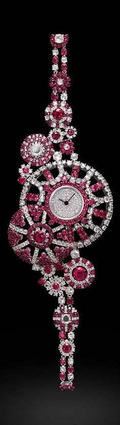 Luxury of Graff: Ruby and Diamond watch