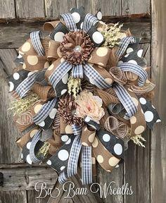Grey Beige Wreath, Neutral Wreath, Custom Order Reserved for TAMMY Thank you so much❤️