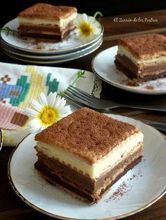 Tarta de Galletas a los Tres Chocolates