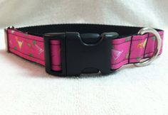 Hot Pink Martini Dog Collar by DoggieStylz on Etsy