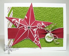Handmade Christmas Card with the Christmas Star on sale
