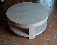 Table basse carton placage bois naturel