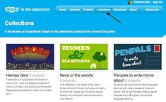 Collections of Projects for Skype in the Classroom- an awesome way to have your kids connect with other kids from around the world! Great for classrooms or homeschooling families.