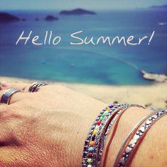 Summer Hello Summer, Bangles, Bracelets, Pearl Jewelry, Style Inspiration, Pearls, Fashion, Bangle Bracelets, Bangle Bracelets