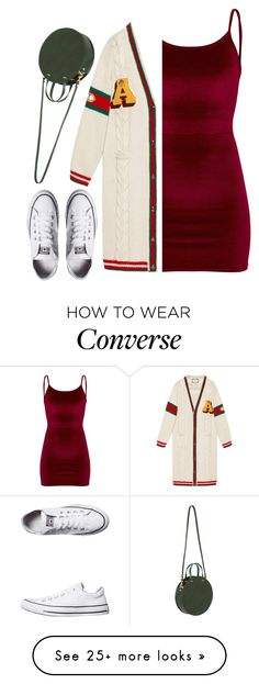 """Winter Florida Life"" by blackadonia on Polyvore featuring Gucci, Clare V., Converse, Winter and florida"