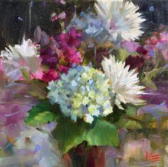 "Krista Eaton, 12"" x 12"" oil on canvas Joy moment"