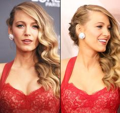 Blake Lively's One-Side-Up Curls