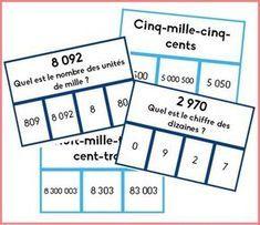 Cartes à pinces, nombres 4 chiffres
