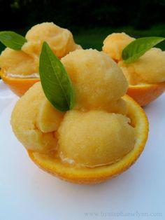 Sugar free orange sorbet