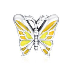 Flying Butterfly Charm 925 Sterling Silver