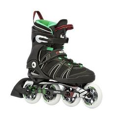 K2 Sports Men's Mach 90 X-Training 2012 Inline Skates (Black/Green/Red 5)