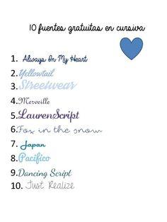 10fuentes_cursiva Script, Fonts, Blog, Japan, Type, Cursive Fonts, Typography Fonts, Wedding Fonts, Degree Of A Polynomial