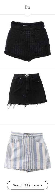 """""""Bo"""" by feelin-q ❤ liked on Polyvore featuring shorts, bottoms, short, black, short shorts, high rise shorts, high waisted short shorts, highwaist shorts, philosophy di lorenzo serafini and skirts"""