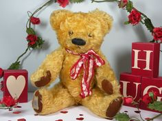 Valentino a Chad Valley bear C1950 who will break your heart !  www.onceuponatimebears.co.uk